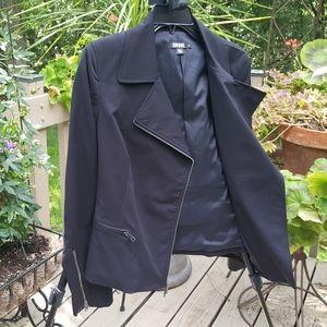 DKNY Black Moto Jacket